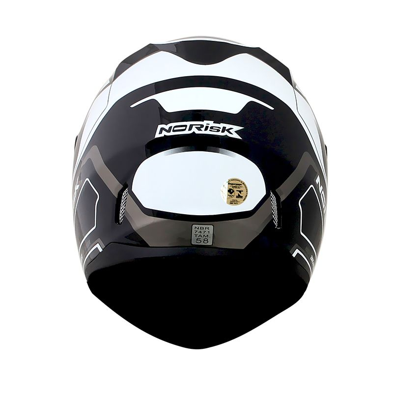 Capacete Norisk FF391 Night Breaker Black/White