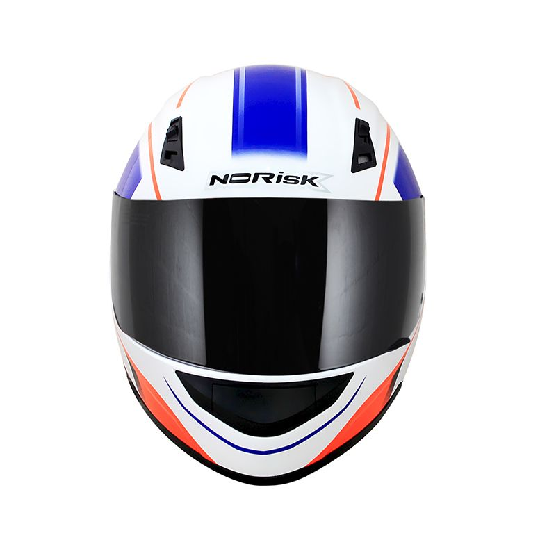 Capacete Norisk FF391 Night Breaker White/Fluor Orange/Blue