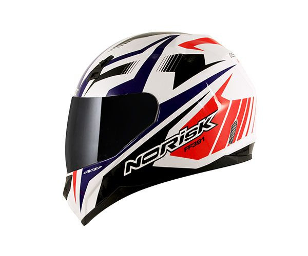 Capacete Norisk FF391 Slide White/Blue/Red