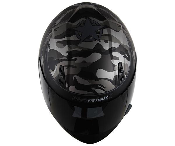 Capacete Norisk FF391 War Matte Black/Silver