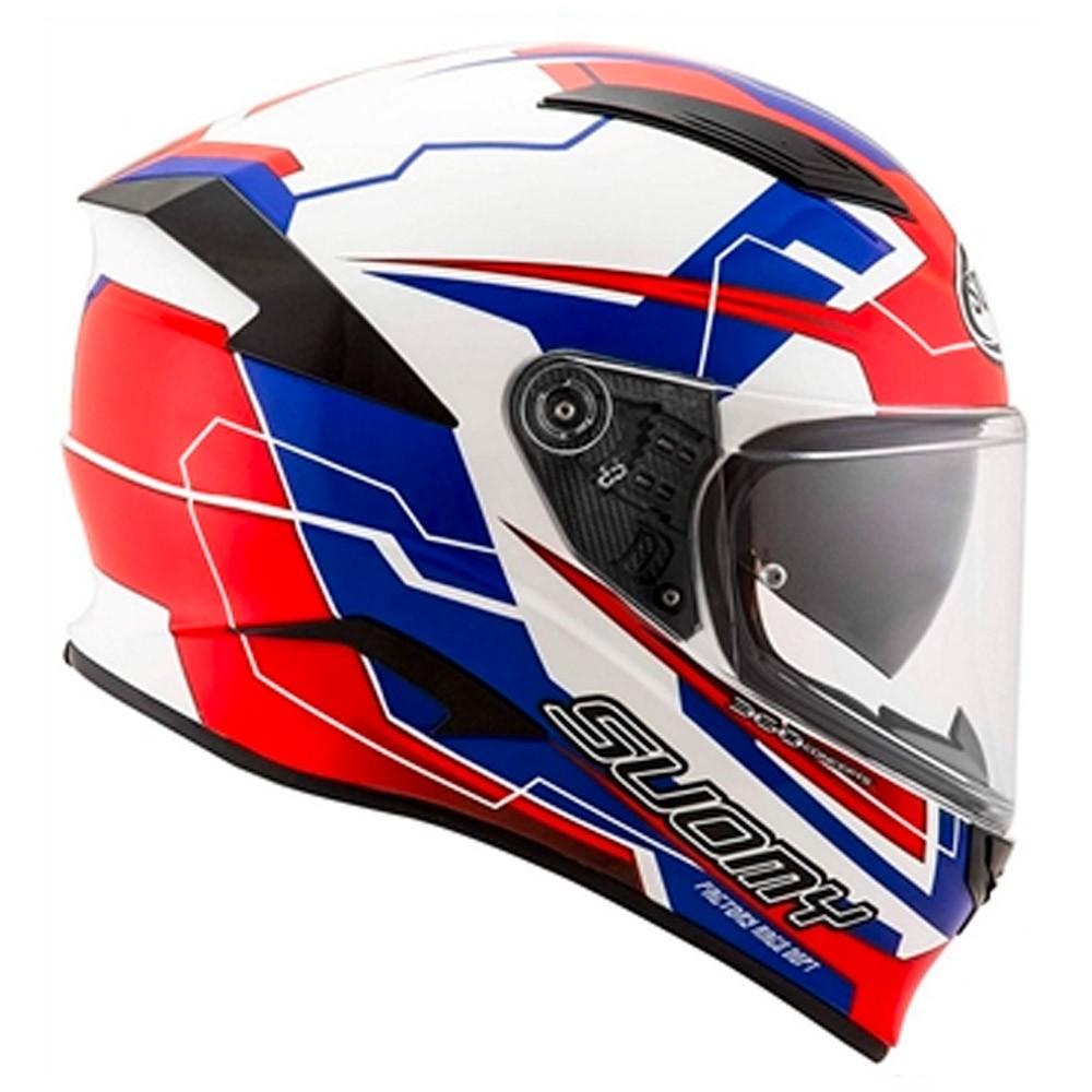 Capacete Suomy Speedstar Camshaft Tricolor Azul/Branco/Vermelho