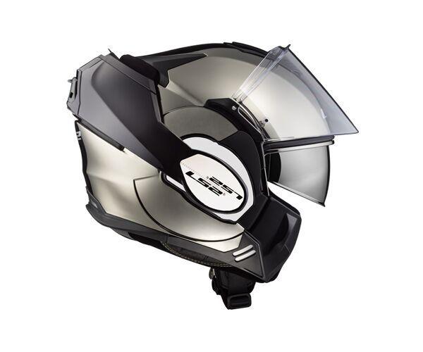 Capacete Ls2 FF399 Valiant Chrome Articulado