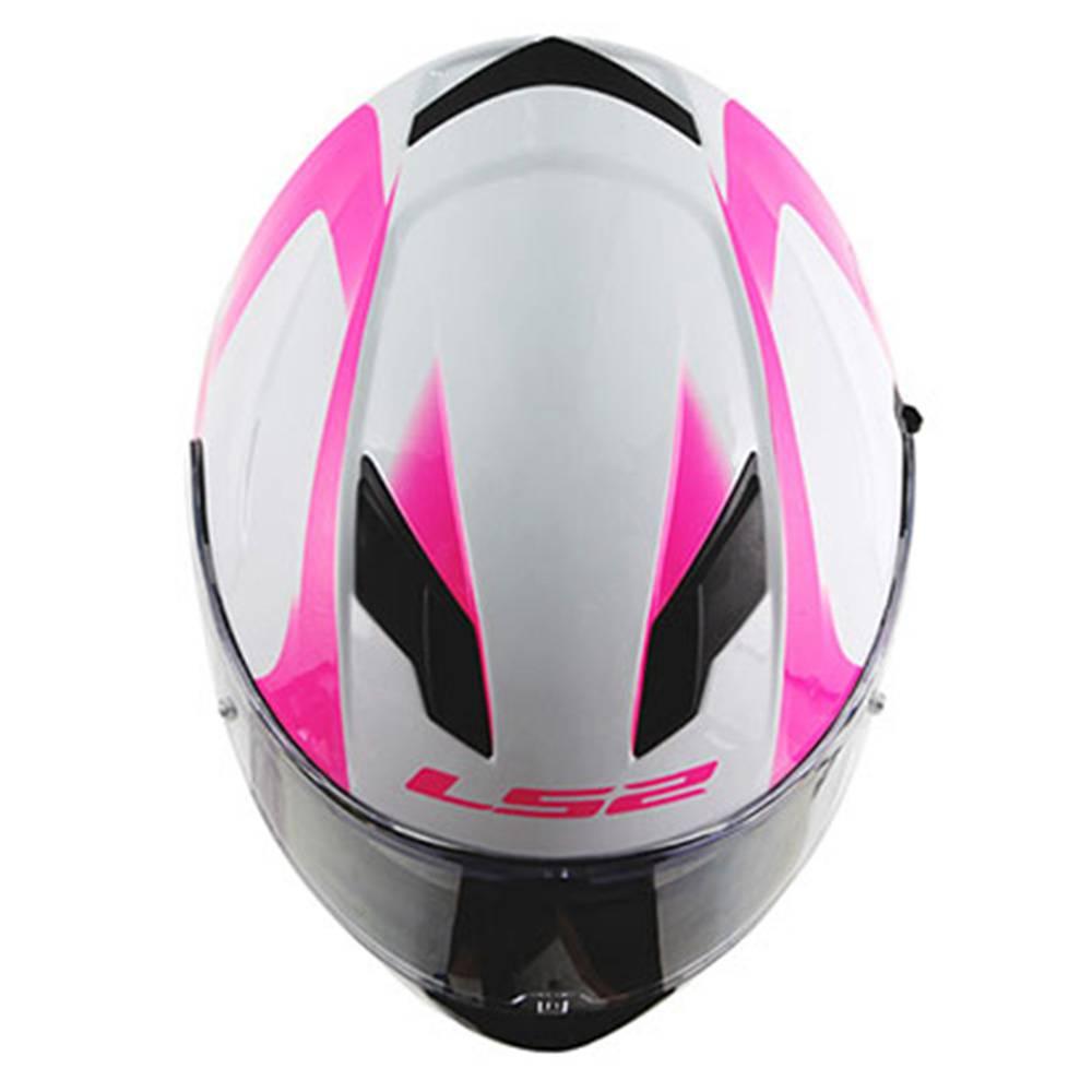 Capacete LS2 FF320 Stream Velvet White/Pink