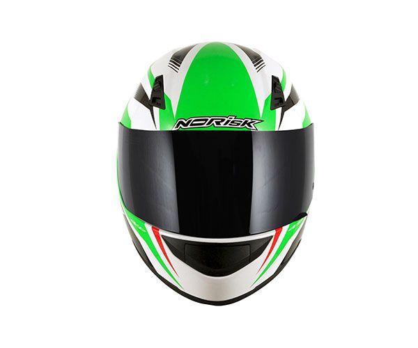 Capacete Norisk FF391 Slide White/Green/Red