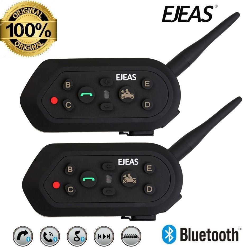 Intercomunicador Moto Bluetooth Ejeas E6 2 Pçs