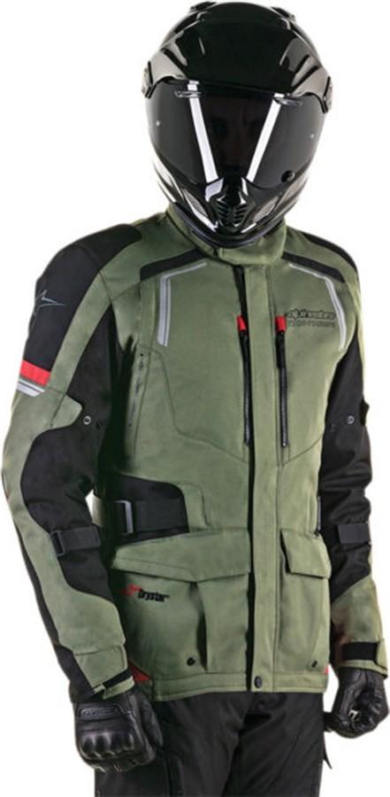 Jaqueta Alpinestars Andes V2 Drystar Verde Militar Preta