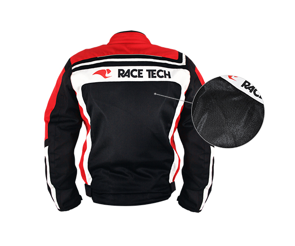Jaqueta Race Tech Imola Air Verão Preta Vermelha