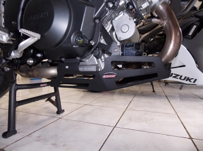 Protetor de Carter Chapam p/ Suzuki Vstrom DL 1000 2015 Preto (chapa de AÇO) 9511