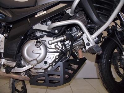 Protetor de Carter Chapam p/ Suzuki Vstrom DL 650 Preto (chapa de AÇO) 9595