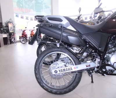 Suporte Lateral CHAPAM p/ Yamaha Tenere 250 Preto Fosco