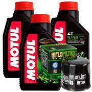 3 Litros Óleo Motul 5100 10w30 Semi-sintético + Filtro de óleo HF204 Honda