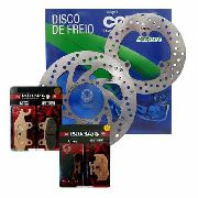Kit Disco Freio D/t Lander / Tenere 250 até 2015 + Jg Pastilha D/t Potenza