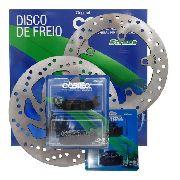 Kit Pastilha E Disco Cobreq Diant/traseira Fazer 250 16-17