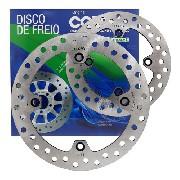 Kit Disco Freio Dianteiro E Traseiro Xre 300 sem ABS Cobreq+ Pastilhas Cobreq