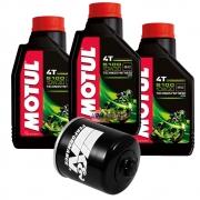 Filtro De Óleo K&n para Honda CB 1000R + 3 Litros Motul 5100 10w30