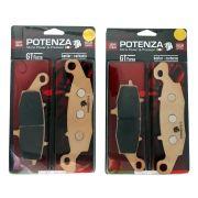 Jg Pastilha Freio Potenza Dianteira Kevlar/Carbono PTZ229GT e PTZ231GT