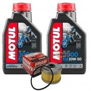 Kit 2 lts Óleo Motul 3000 20w50 + Filtro de óleo FRAM CB 300/CBX 250 Twister/Falcon