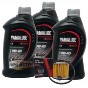 Kit 3 lts Óleo Yamalube 10w40 + Filtro de óleo Yamaha Fazer/Lander/Tenere 250