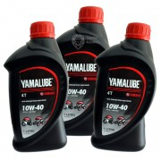 Kit c/3 Litros Óleo Motor Yamalube 10w40 Semi-sintético