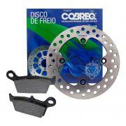 Kit Disco De Freio Traseiro Falcon/XRE 300 s/ABS Cobreq + Pastilha Traseira Cobreq