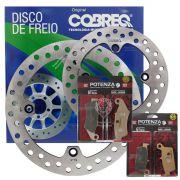 Kit Disco Dianteiro E Traseiro Xre 300 + Pastilhas Potenza