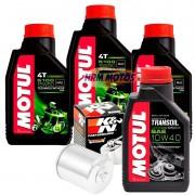 Kit Filtro De Óleo Harley 883/1200/1600 +3 Lts Motul 5100 15w50 + Transoil + KN