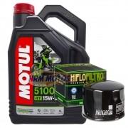 Kit Filtro De Óleo para Bmw R1200 GS+4 Litros De Motul 5100 15w50