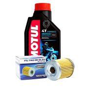 Kit Filtro De Óleo Suzuki Burgman 125 + 1 Óleo Motul 3000 20W50