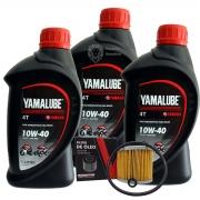 Kit Filtro De Óleo Yamaha XT 660R/MT-03 e 3 Litros Yamalube 4T 10w40 Semi-sintético