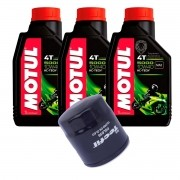 Kit Filtro Oleo Suzuki +3 Litros Óleo Motul 5000 10w40 Semi-sintético