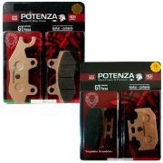 Kit Pastilha Freio Diant/tras Fazer 250 Até 2015 Potenza Gt Kevlar / Carbono