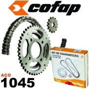 Kit Transmissão Corrente/Coroa e Pinhão Fazer 250 Cofap