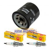 Kit Vela Ngk Midnight Star 950 Jg 2 Velas +filtro Óleo Fram