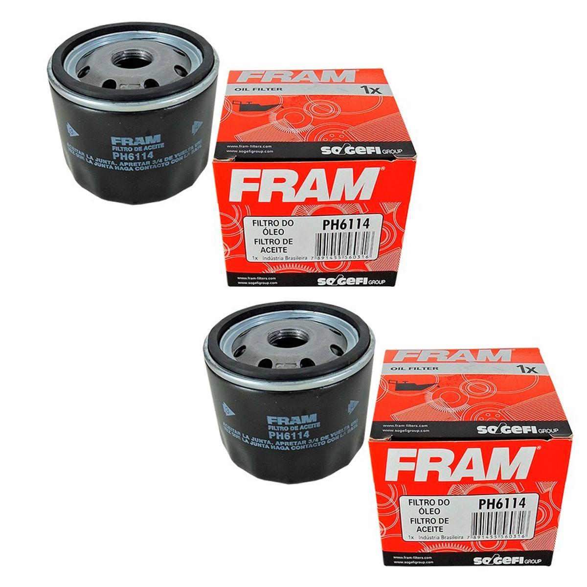 2 Filtros Oleo Fram Ph6114 Moto Bmw F800gs 800r S1000rr K1300