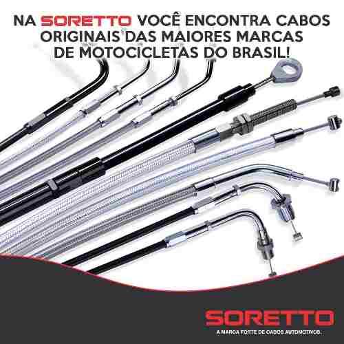 Cabo Velocimetro Honda Shadow Vt 600 Mais Longo Soretto