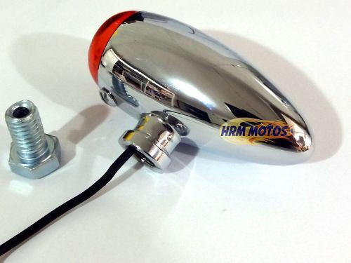 Pisca Foguete Para Custom (bullet) - Cromado - Unidade