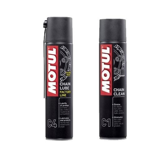 Kit Motul Chain Lube (C4) + Chain Clean (C1) On Road