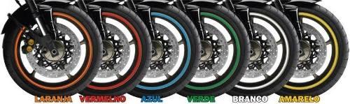 Fita Friso De Roda Refletivo Para Motos Alcom Com Aplicador
