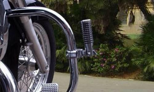 Pedaleira Auxiliar Para Protetor Motor Preta 25mm Fmv
