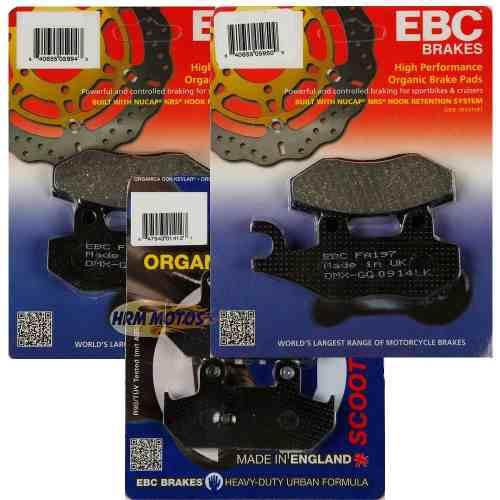 Jg Pastilhas Freio Ebc Burgman 400 2008-2015 Completo (kit para moto com 2 discos na frente)