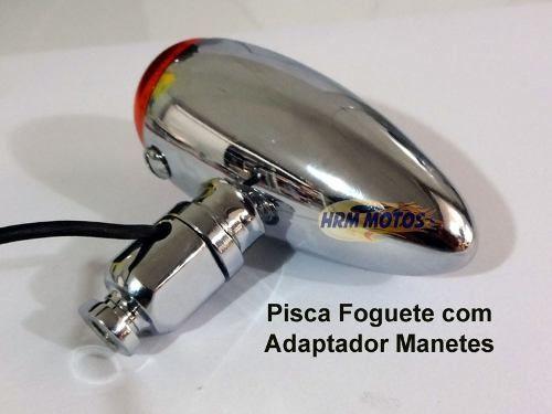 Pisca Foguete/Bullet Custom (bullet) - Par Com Adaptador Manetes