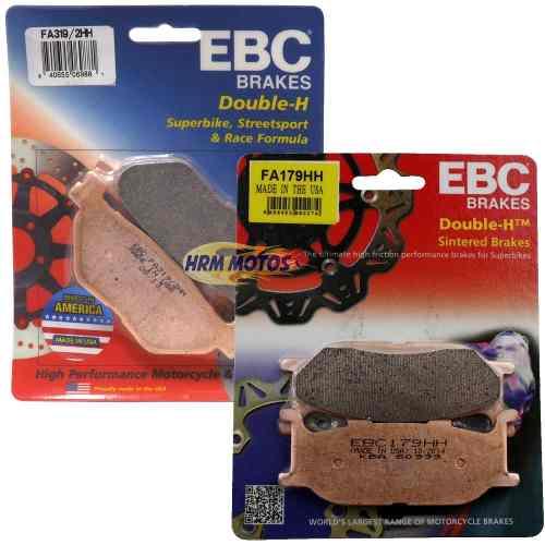 Jg Pastilhas EBC Midnight Star 950 Dianteira e Traseira HH