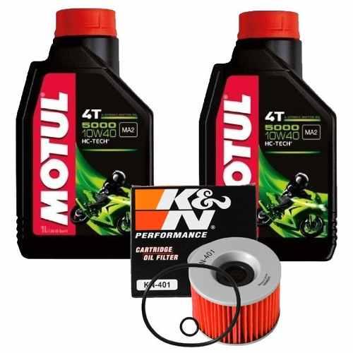 Kit Filtro Óleo K&n +2 Lts Motul 5000 10w40 Ninja 250 C/anel