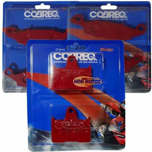 Jg Pastilhas Freio Completo Bandit 650 2004-2008 Cobreq Racing