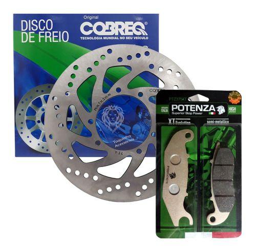 Kit Disco De Freio Dianteiroc Lander e Tenere 250 16-20 + Pastilha Potenza