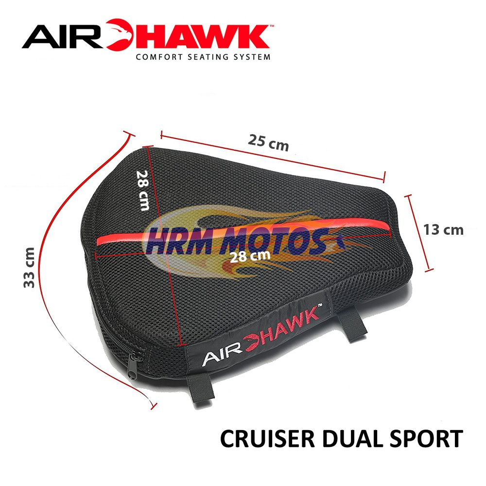 Almofada De Banco Air-hawk Dual Sport 30x28x14 Para Viagens
