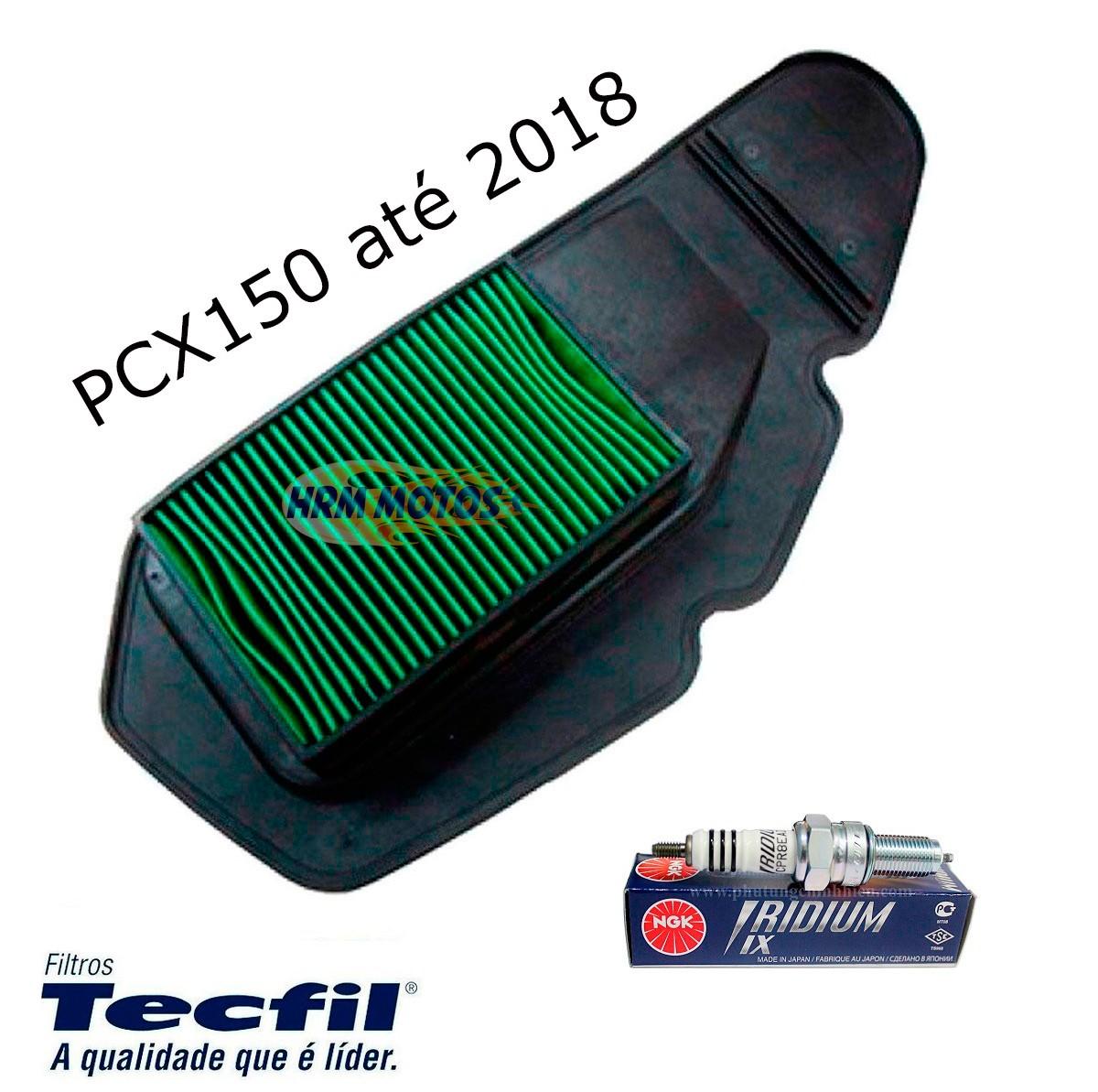 Combo Filtro Ar Honda Pcx 150 Tecfil + Vela Iridium Ngk