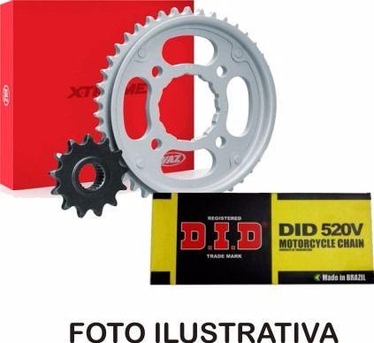 Kit Relação Dafra Next 250 Vaz + Corrente DID com Retentor ( 35 x 13 )