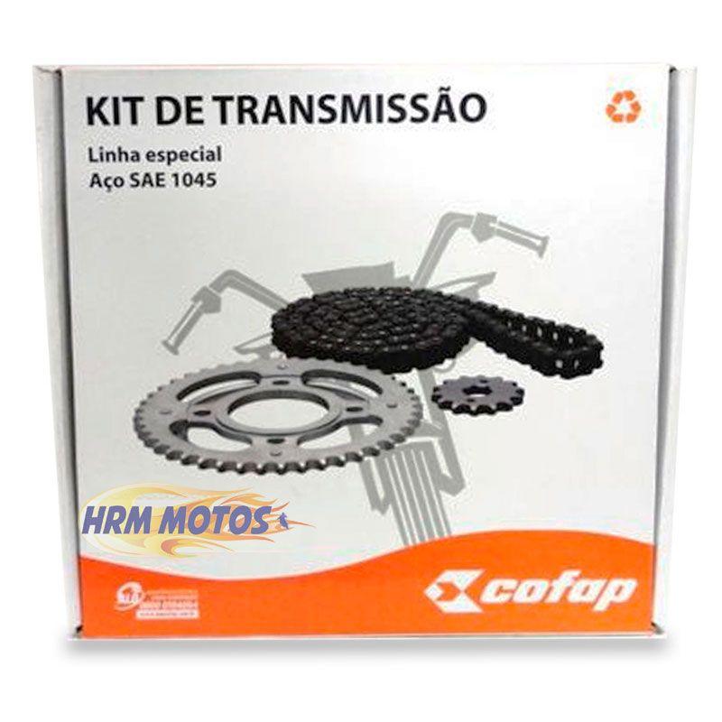 Kit Transmissão Corrente/Coroa e Pinhão NX 400 Falcon Cofap