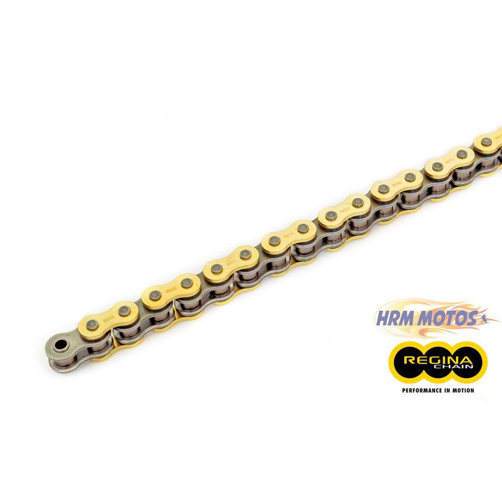 Corrente Transmissão 520 x 120 com Retentor REGINA GOLD acima de 600cc BMW G650 GS / XT 660R / CB 500X